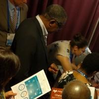 Teri demos Matterhorn at a conference