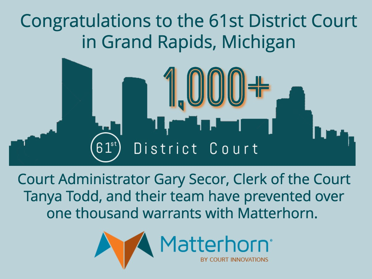 61st District Court achieves over 1,000 warrants prevented with Matterhorn