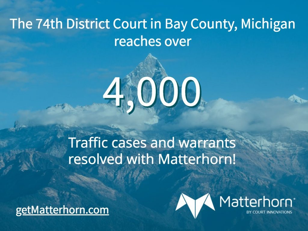 Congratulations to the 74th District Court for over 4,000