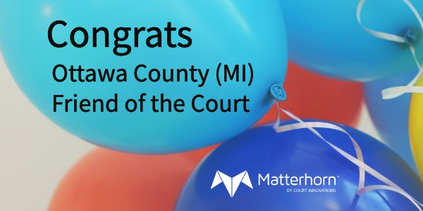 Congratulations to the Ottawa County Friend of the Court